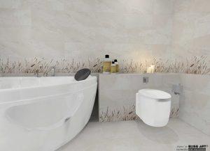 Faianta decor pentru baie