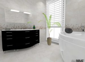Faianta decorativa pentru baie