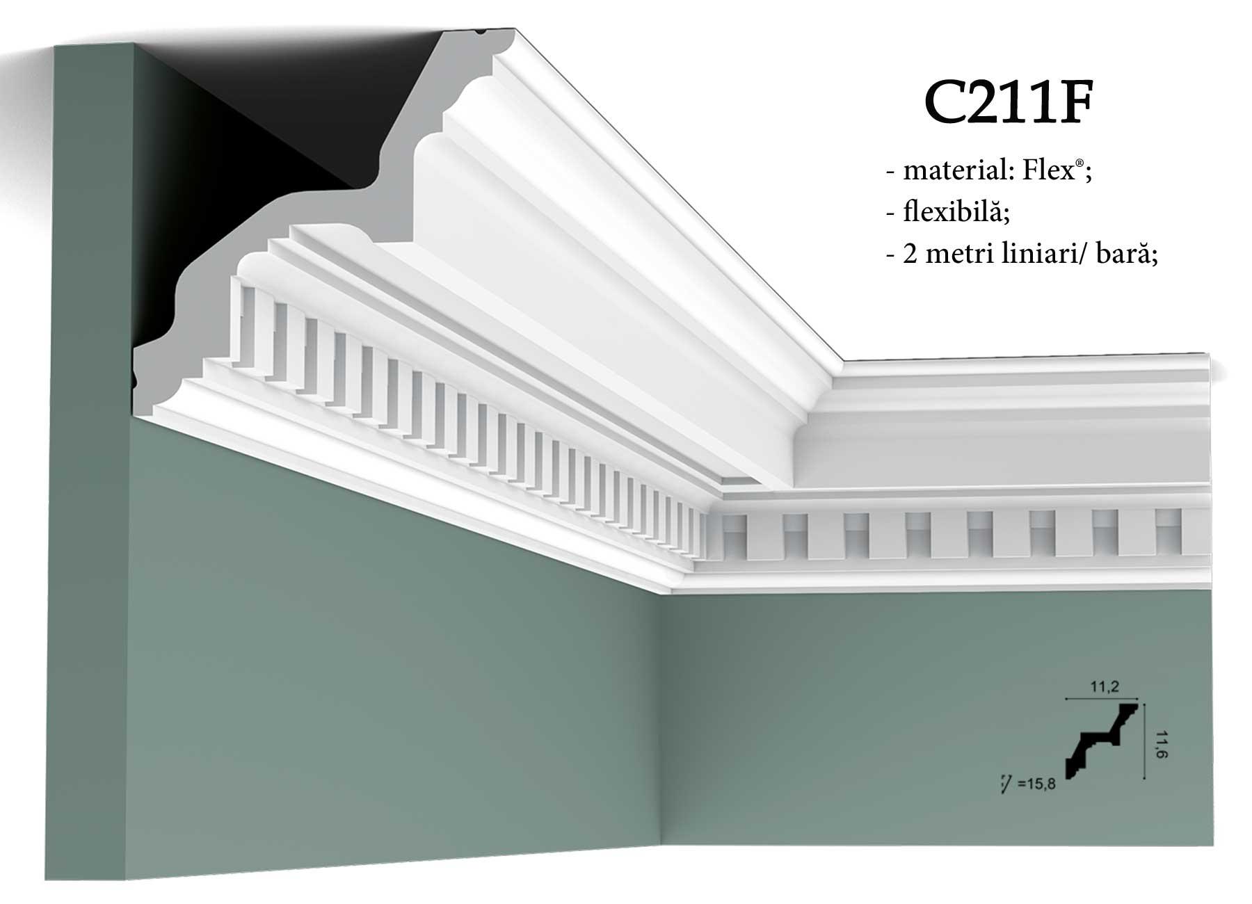 Cornisa flexibila pentru tavan Orac Decor C211F