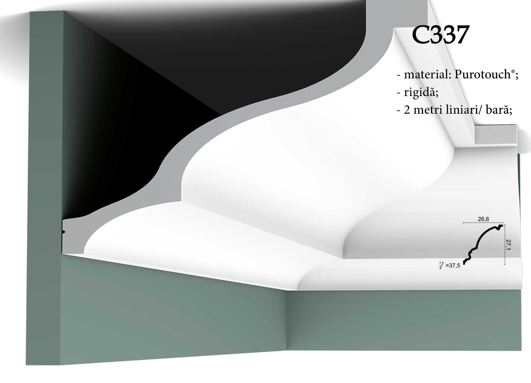 Cornisa C337 pentru tavan Orac Decor.