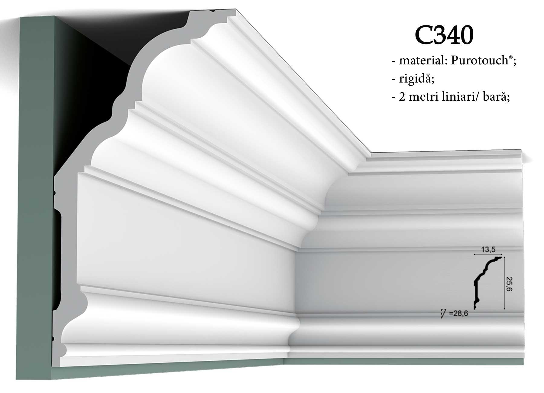 Cornisa decor pentru tavan Orac Decor C340
