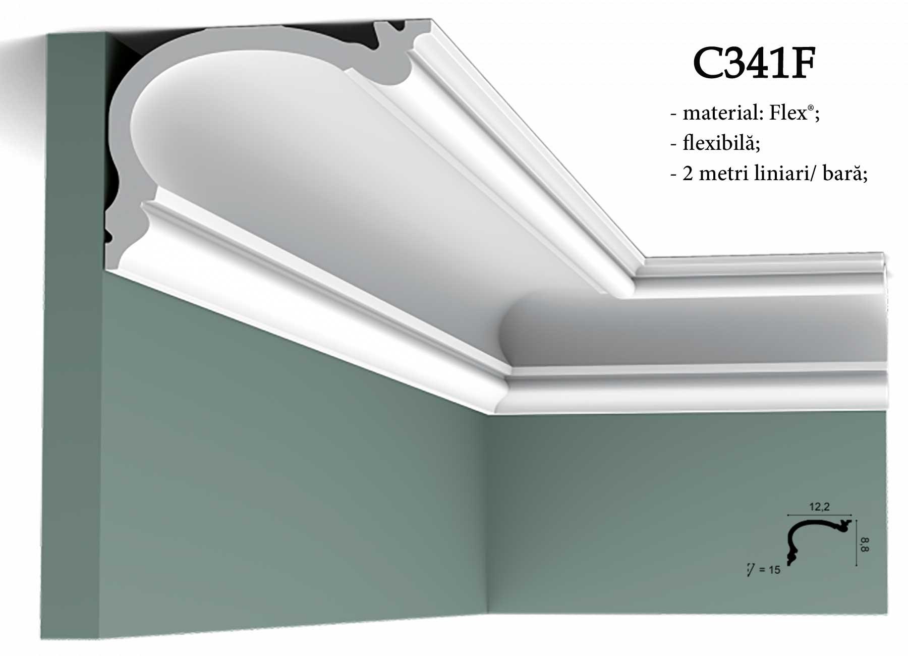 Cornisa decorativa pentru tavan Orac Decor. C341F