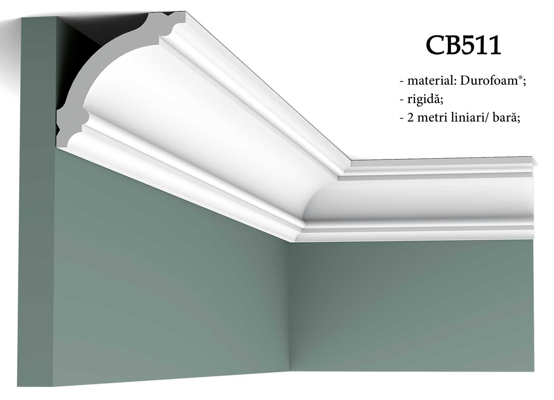 Cornisa CB511 decorativa pentru tavan Orac Decor.