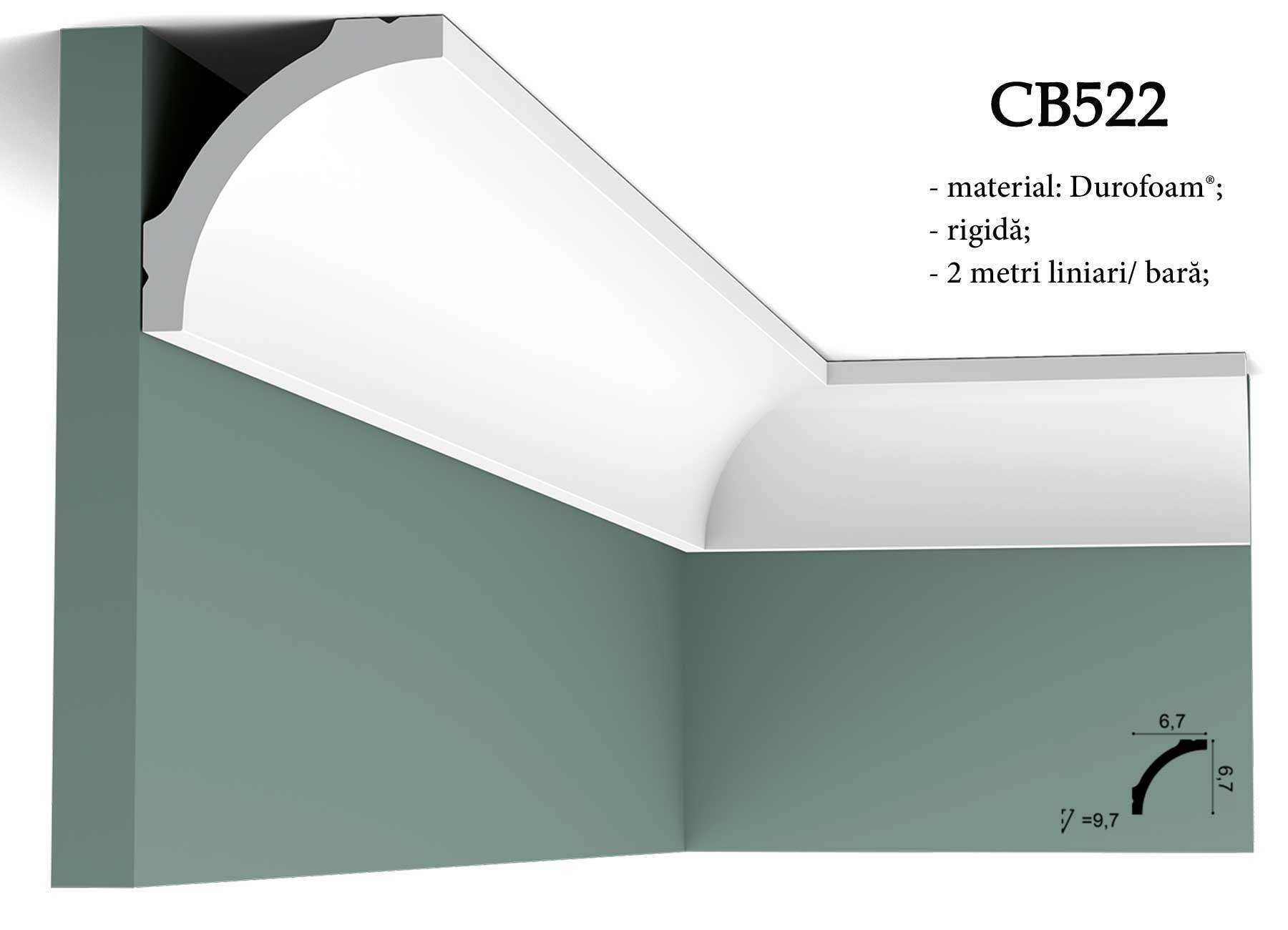 Cornisa CB522 decorativa pentru tavan Orac Decor.