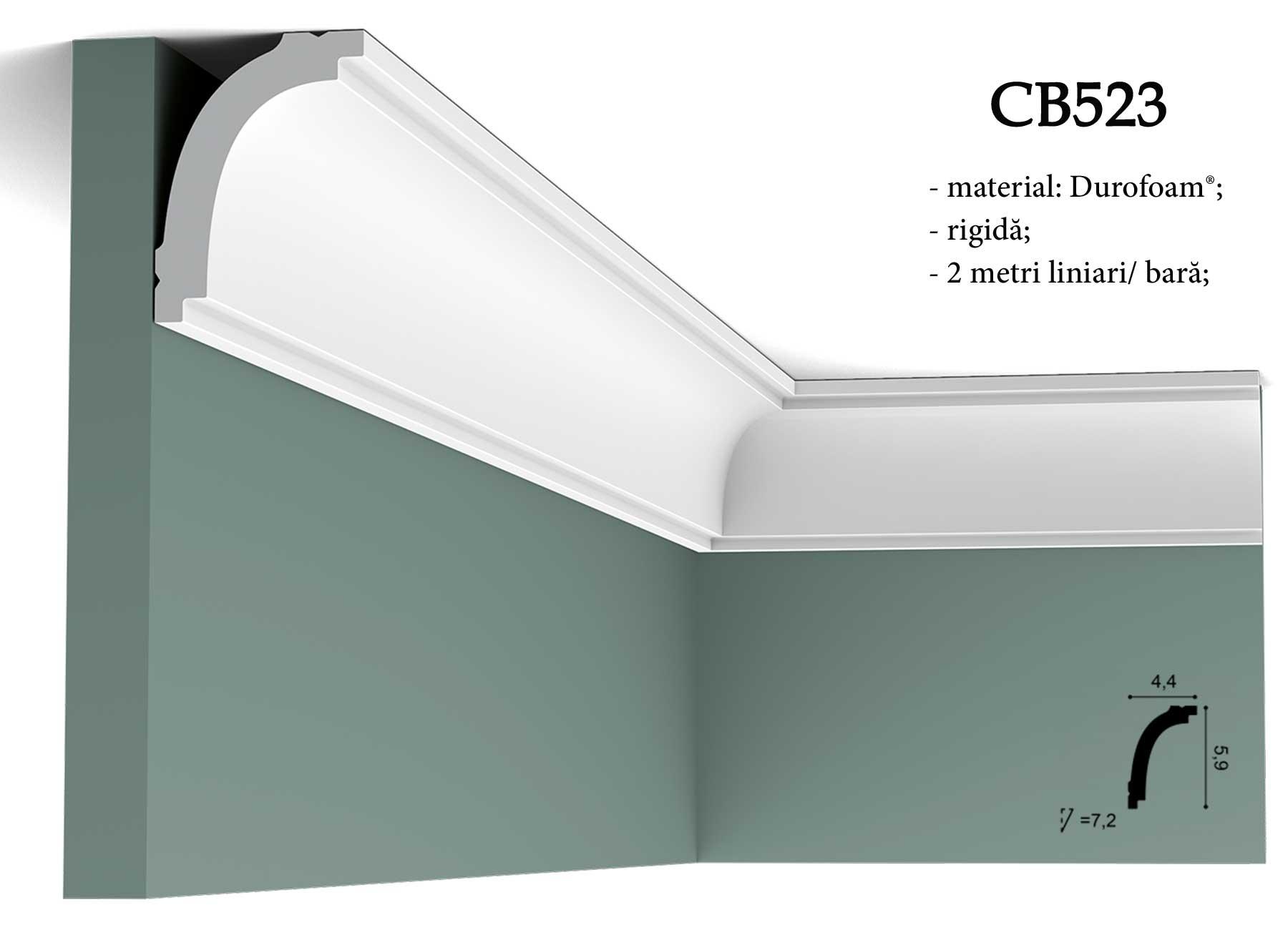 Cornisa CB523 decorativa pentru tavan Orac Decor.