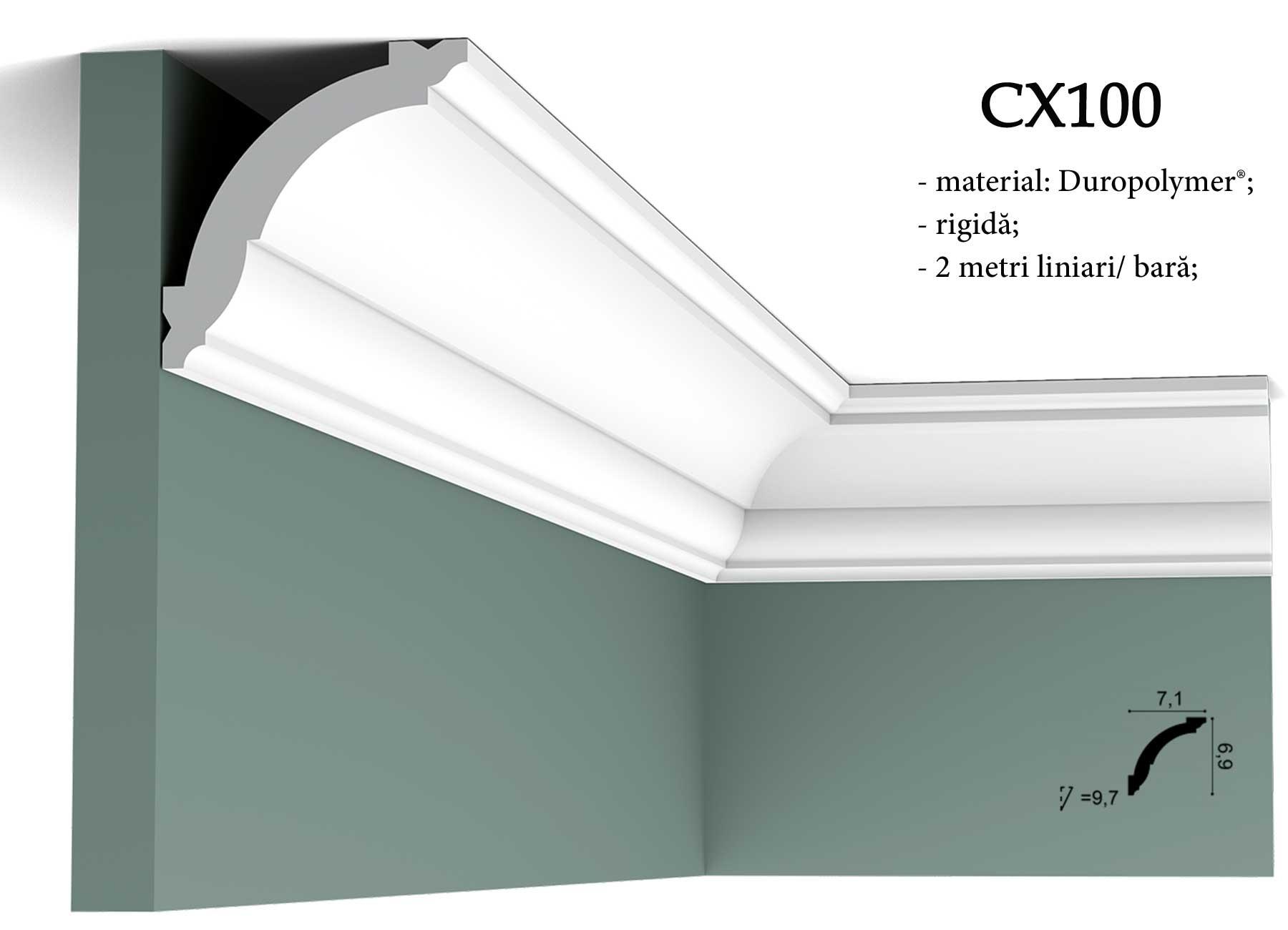 CX100 Cornisa decorativa pentru tavan Orac Decor. erminatie tapet.