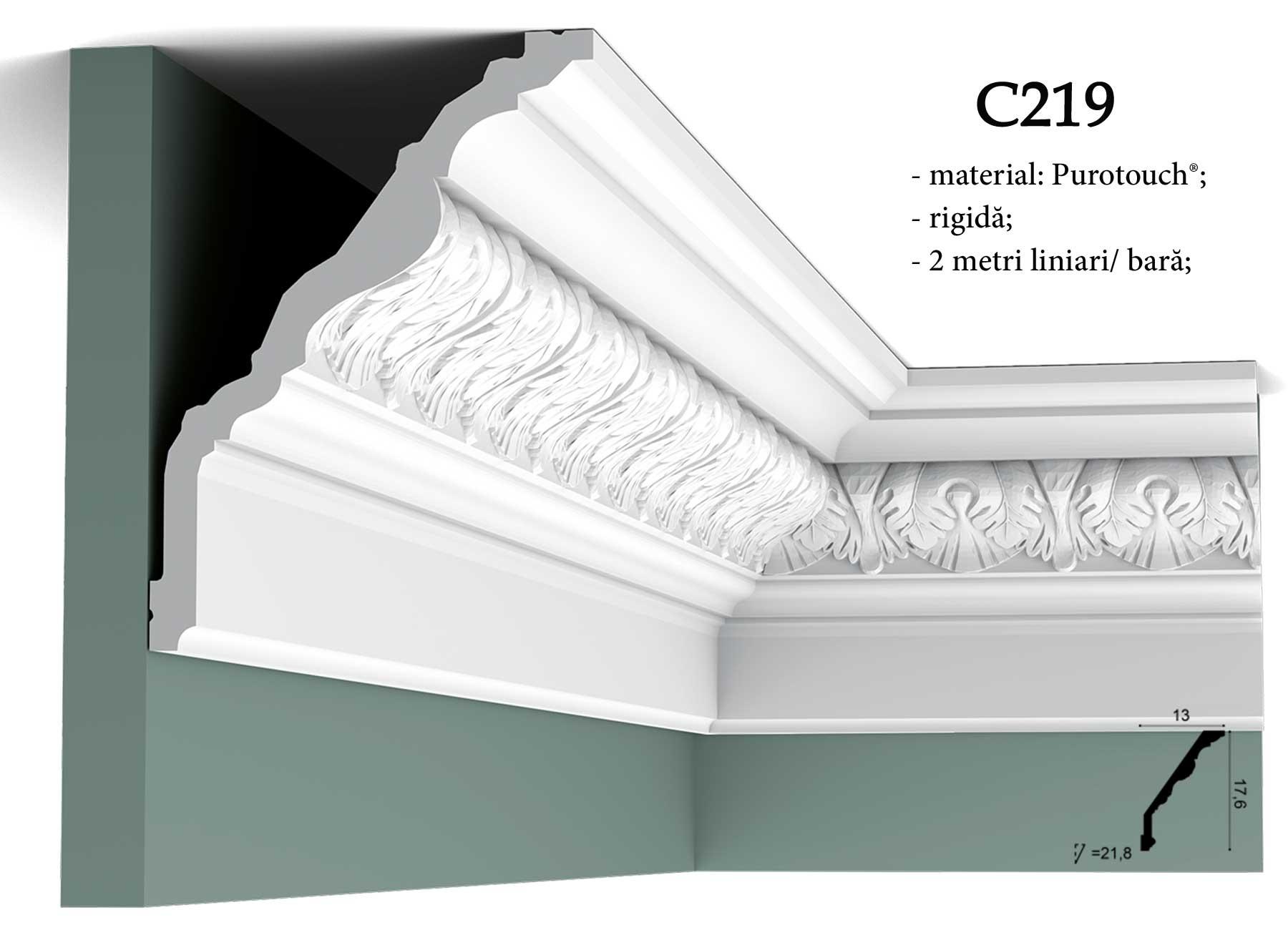 Cornisa C219 decorativa pentru tavan Orac Decor.