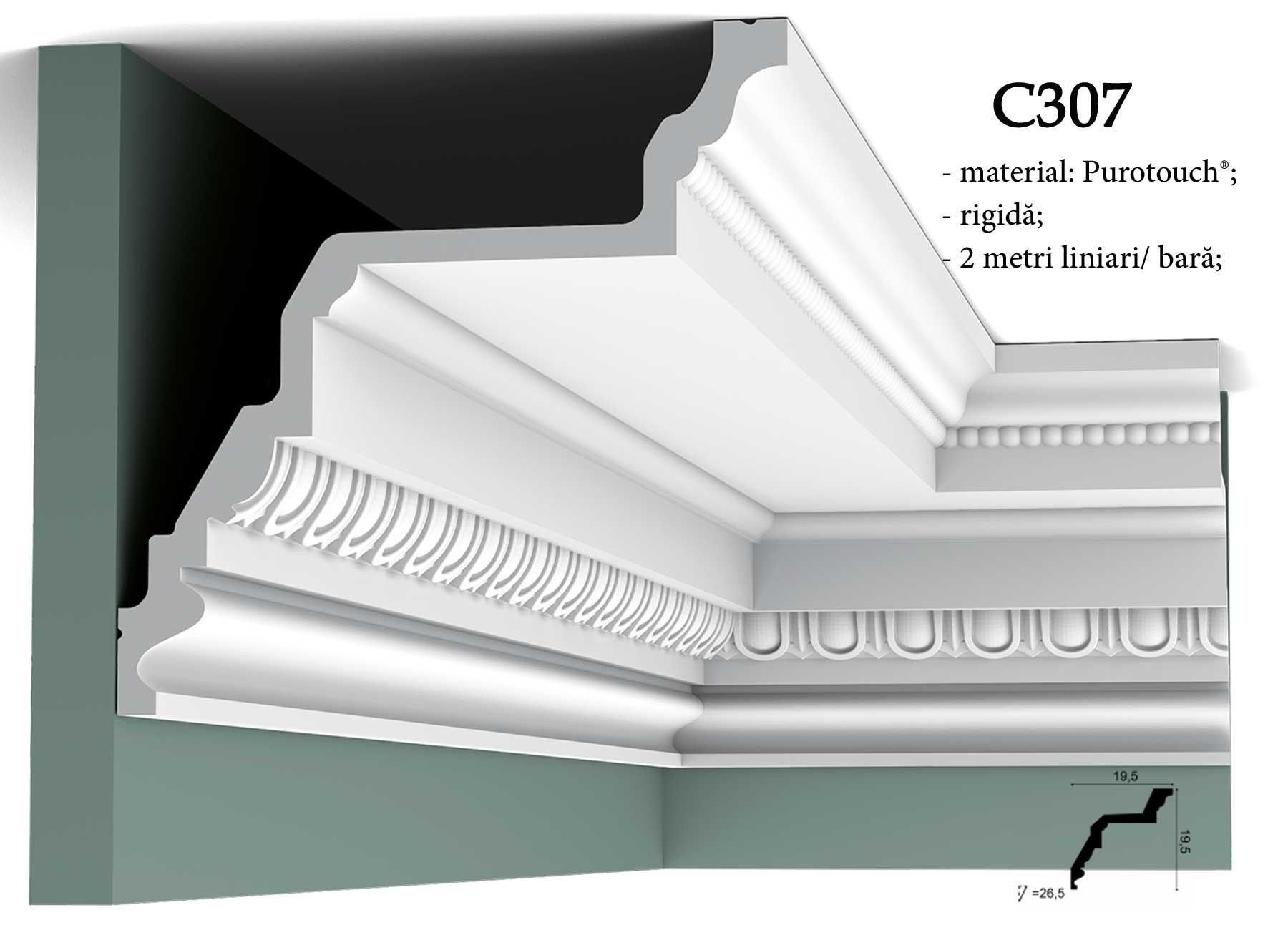 Cornisa C307 decorativa pentru tavan Orac Decor.