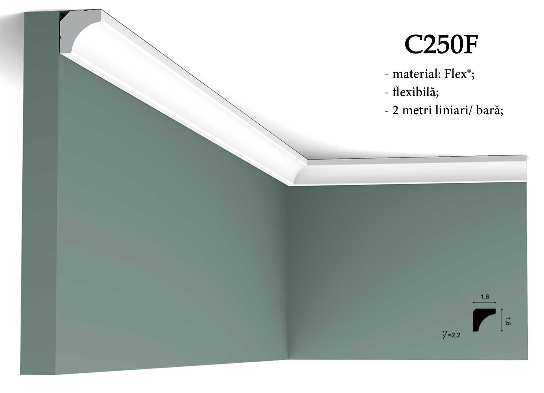 Coltar pentru tavan Orac Decor. Terminatie perete C250F