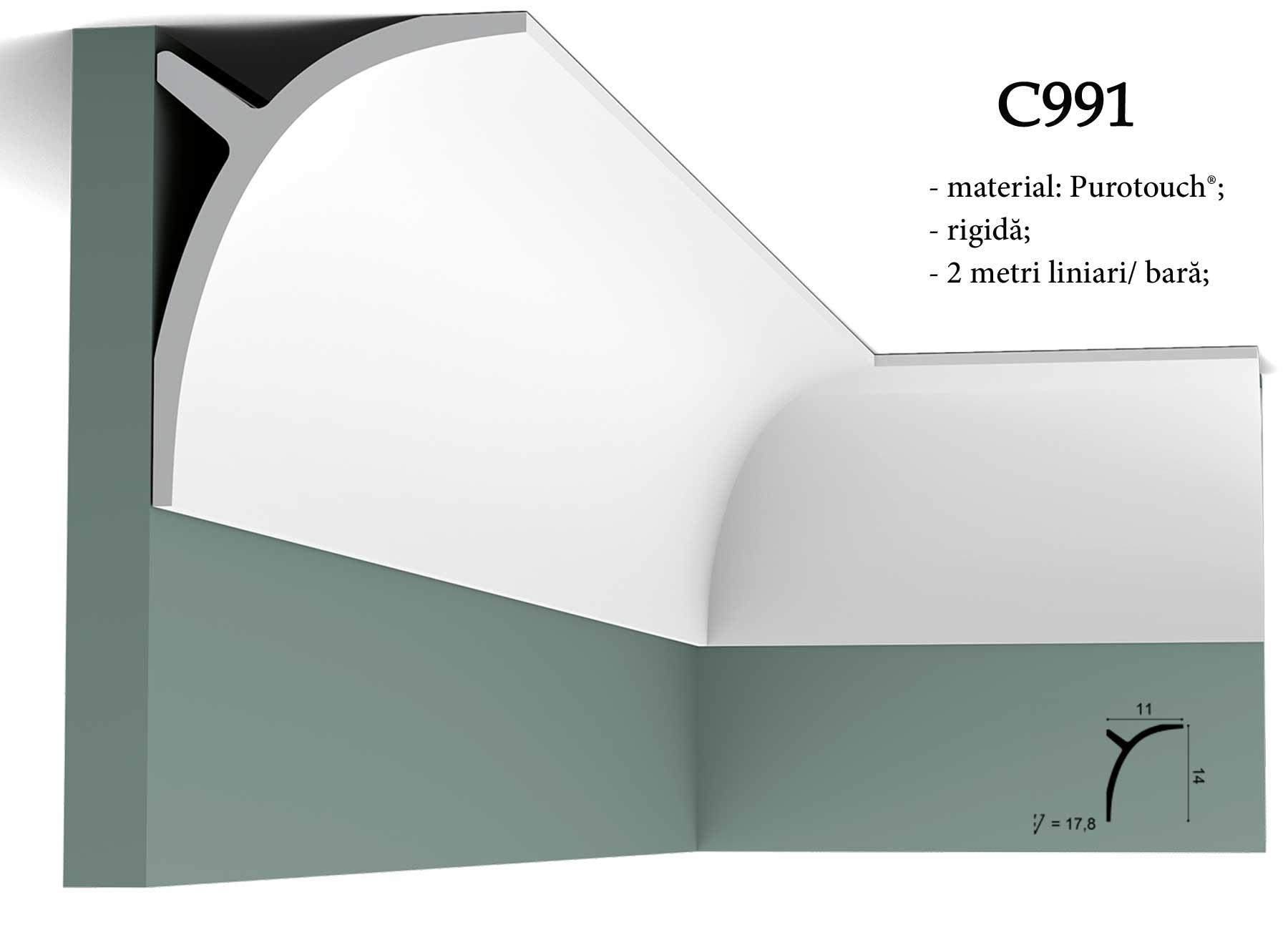 Cornisa decorativa pentru tavan Orac Decor C991