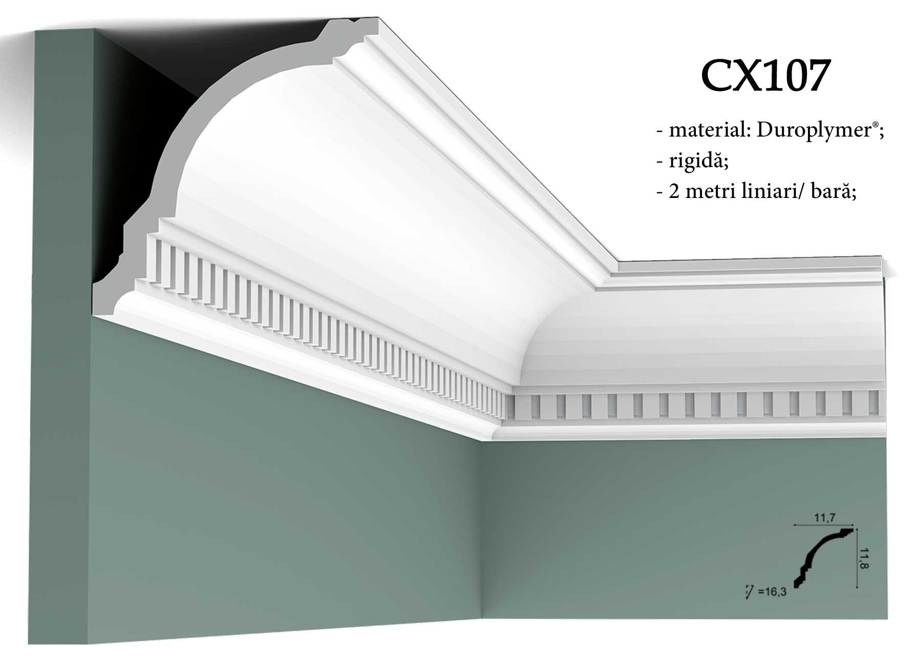 Cornisa decorativa pentru tavan Orac Decor CX107