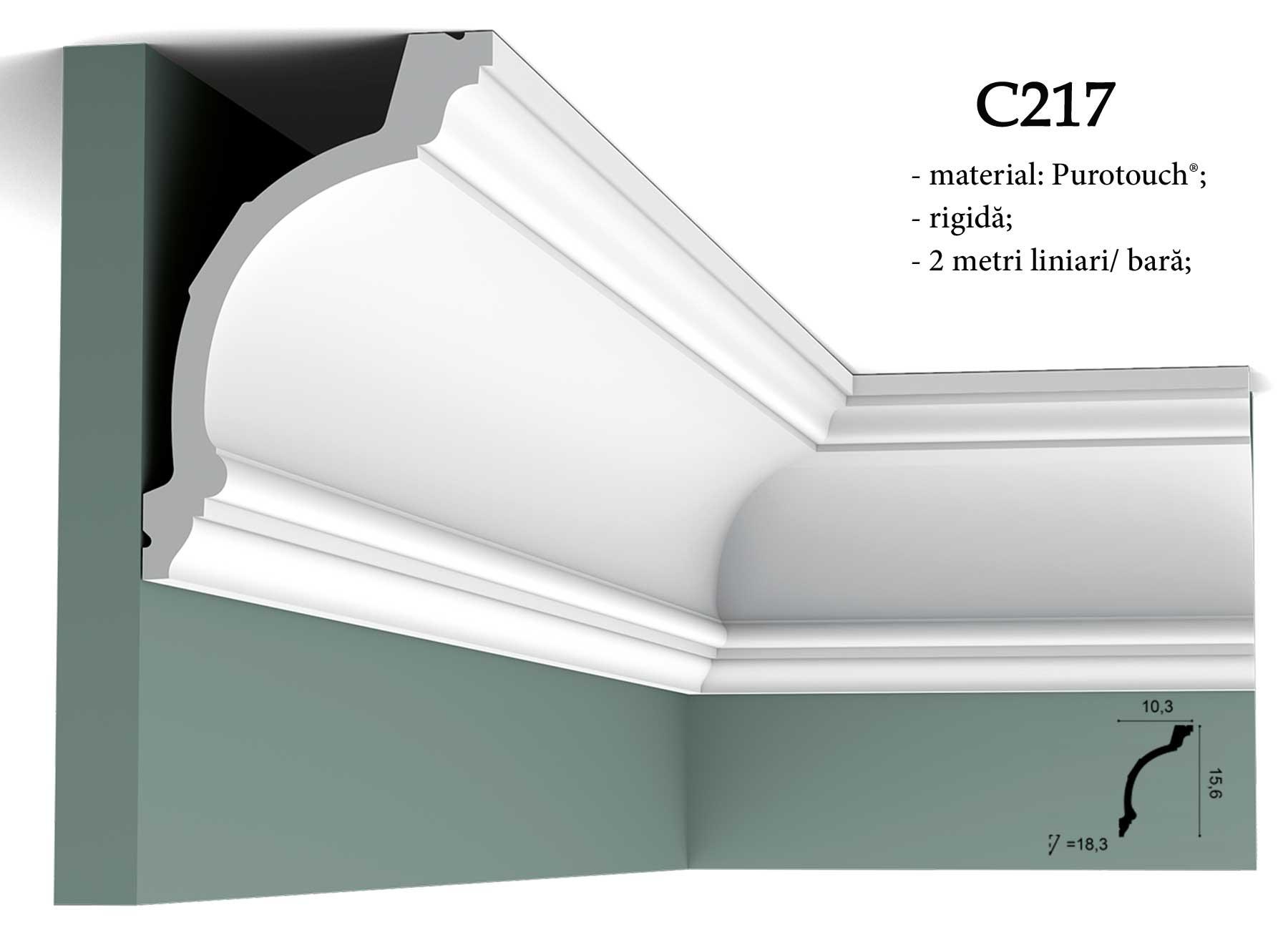 Cornisa decorativa pentru tavan Orac Decor C217