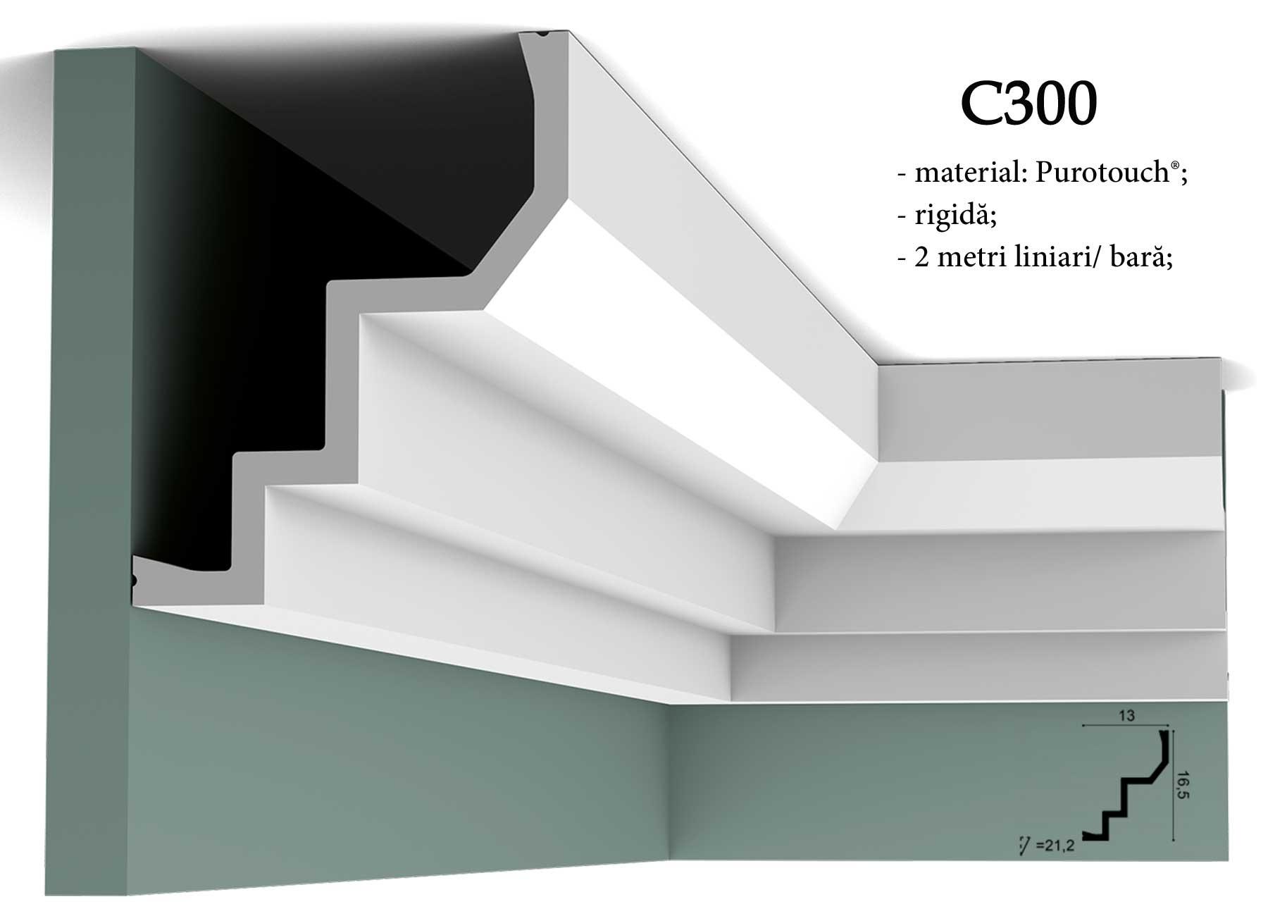 Cornisa decorativa pentru tavan Orac Decor C300