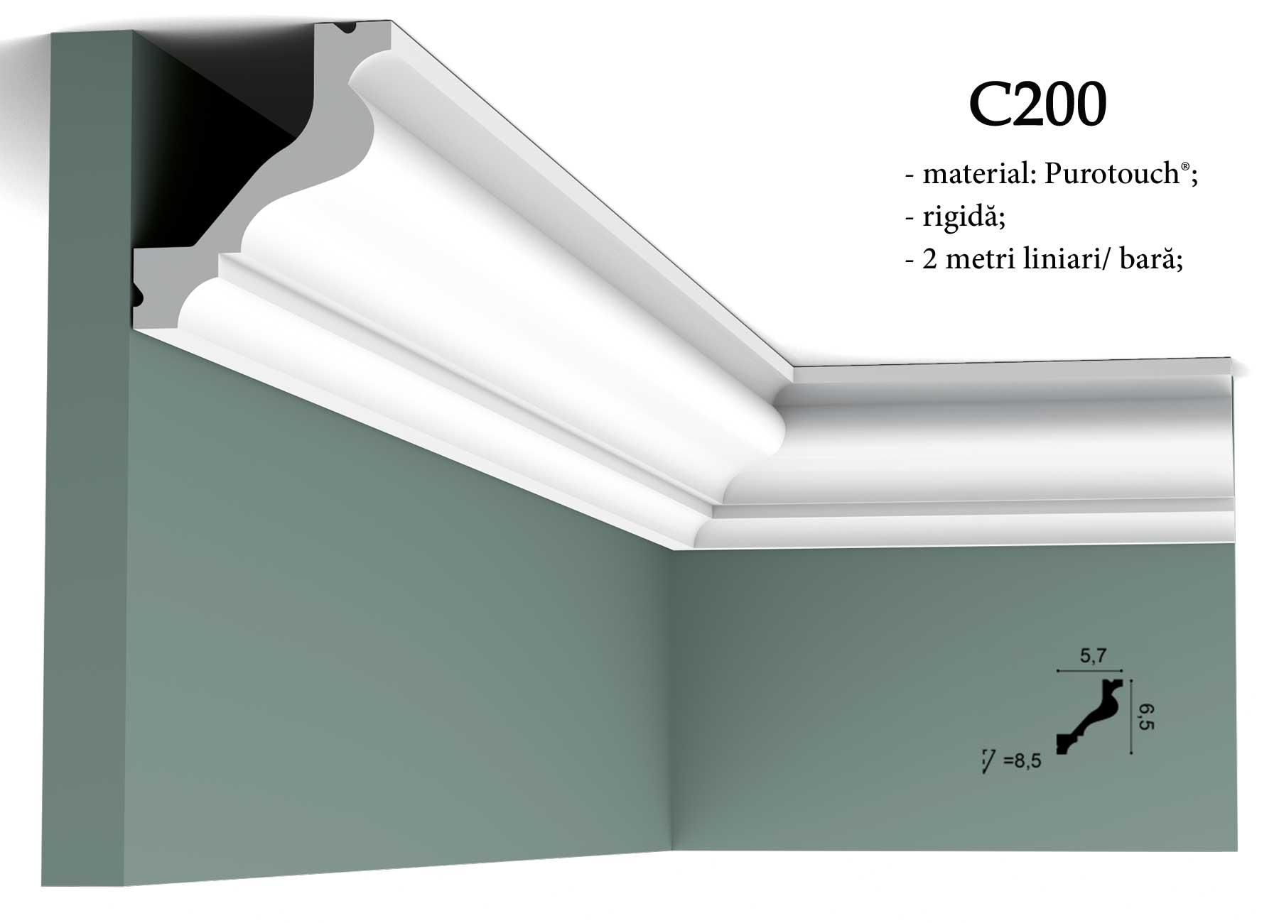 Cornisa pentru tavan Orac Decor C200
