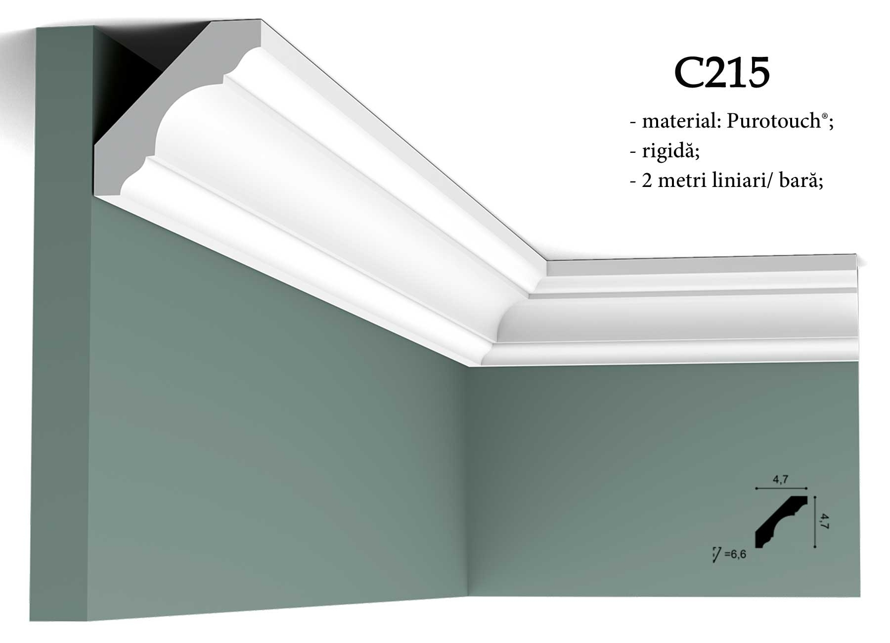 Cornisa pentru tavan Orac Decor C215