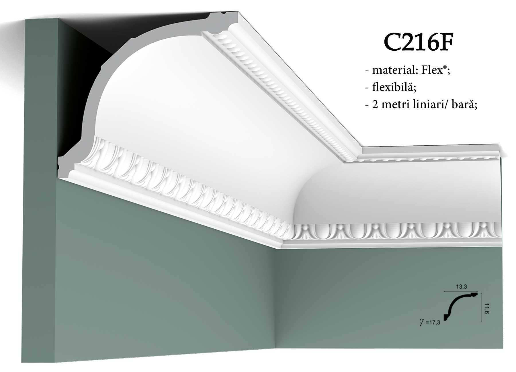Cornisa flexibila pentru tavan Orac Decor C216F