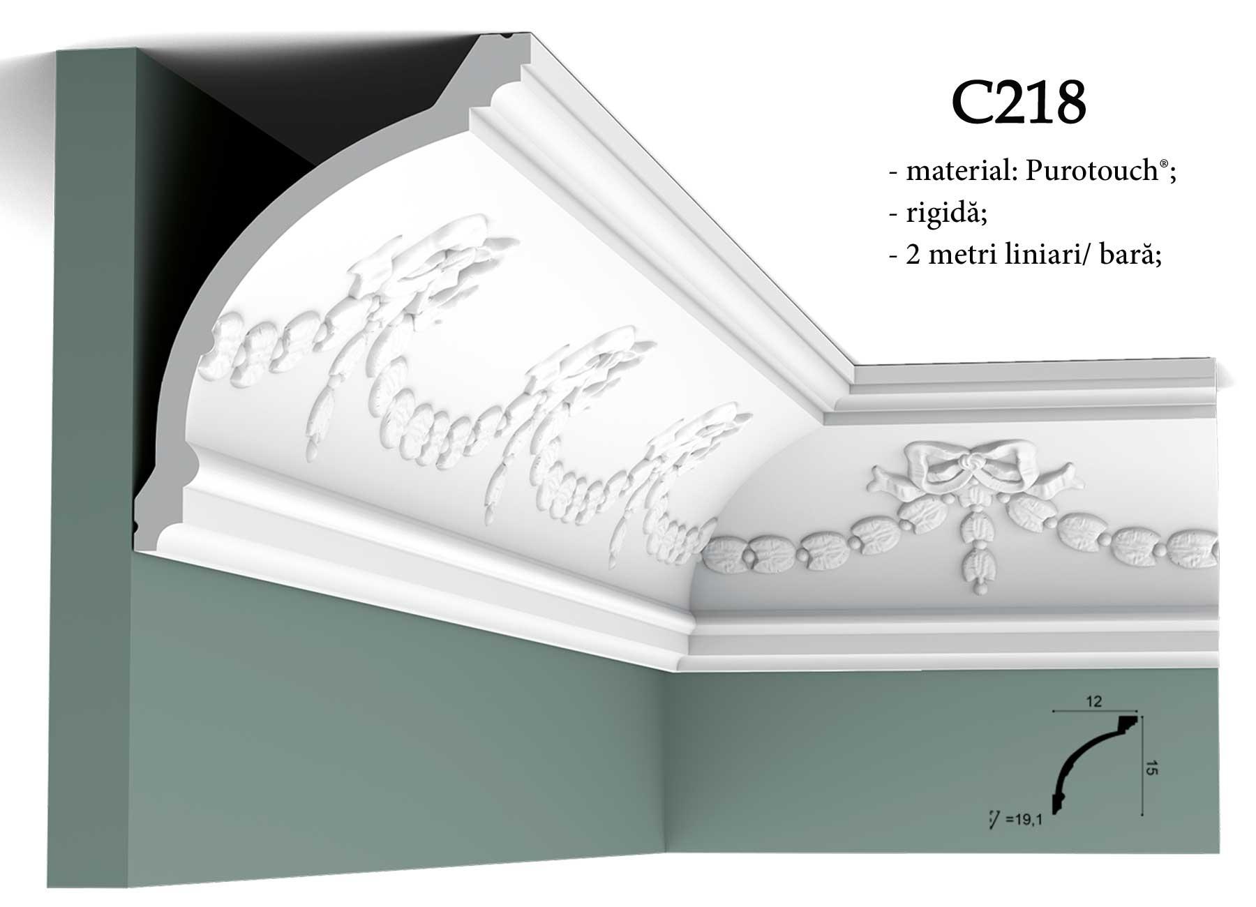 Cornisa rigida C218 pentru tavan Orac Decor C218