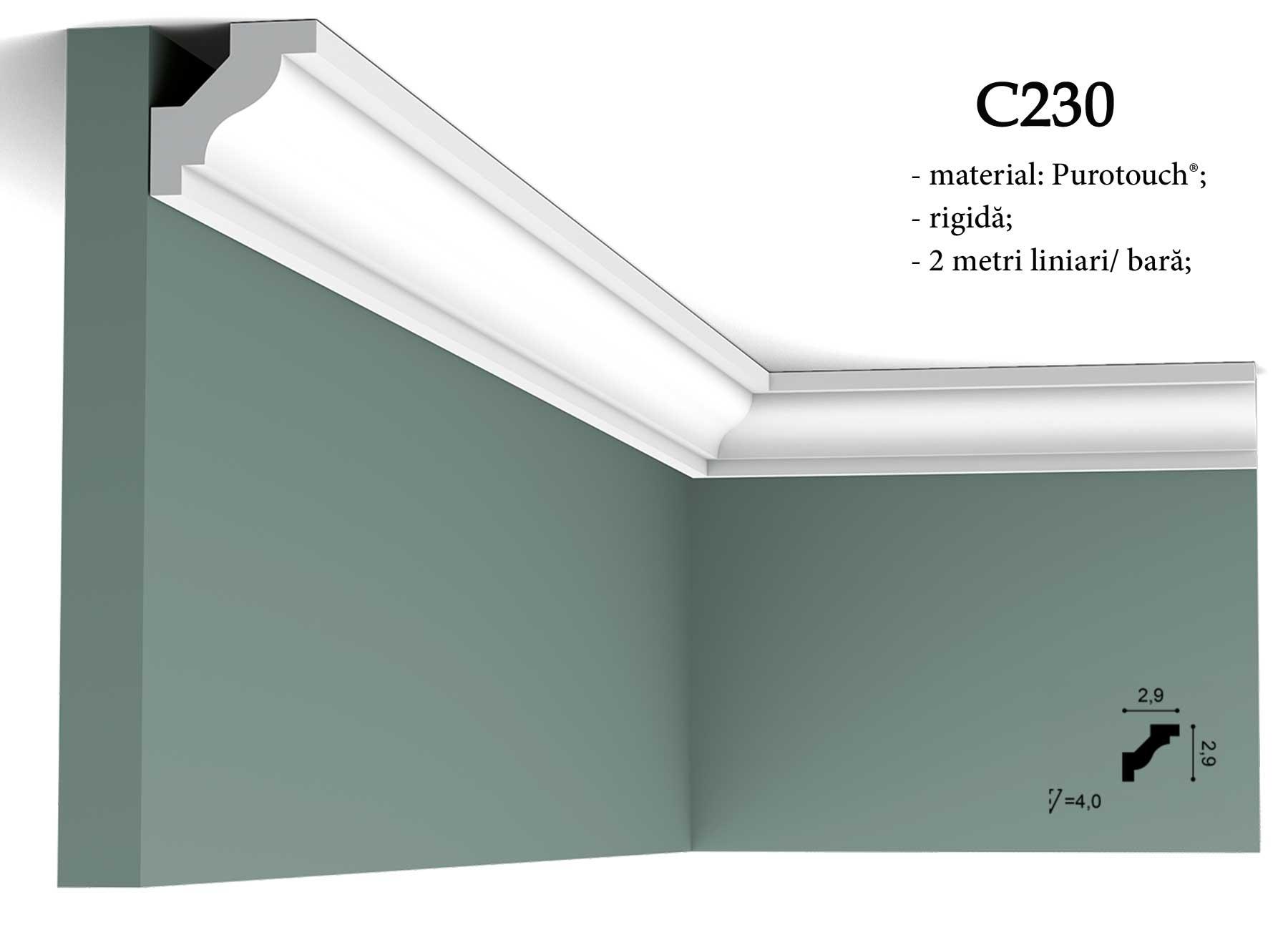 Cornisa C230 pentru tavan Orac Decor.