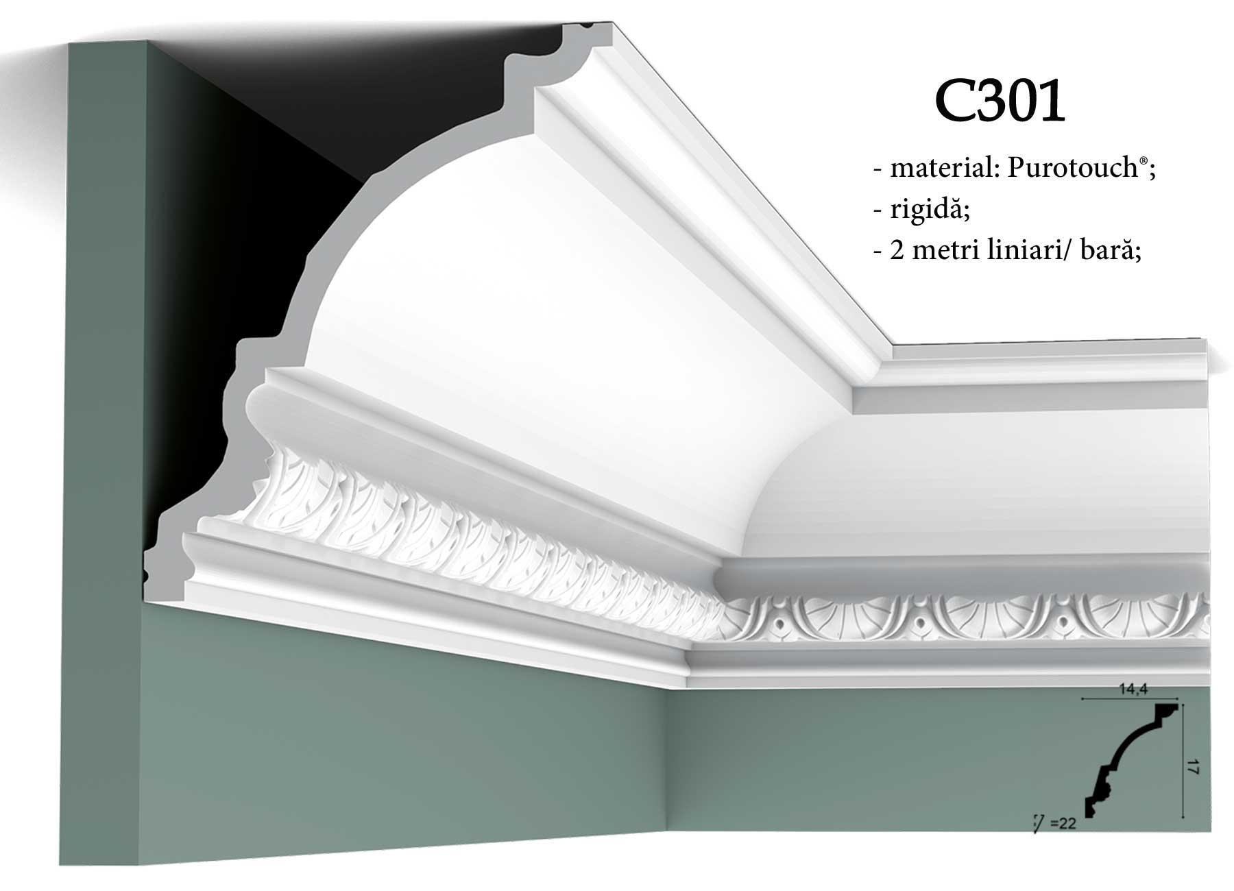 Cornisa C301 pentru tavan Orac Decor.