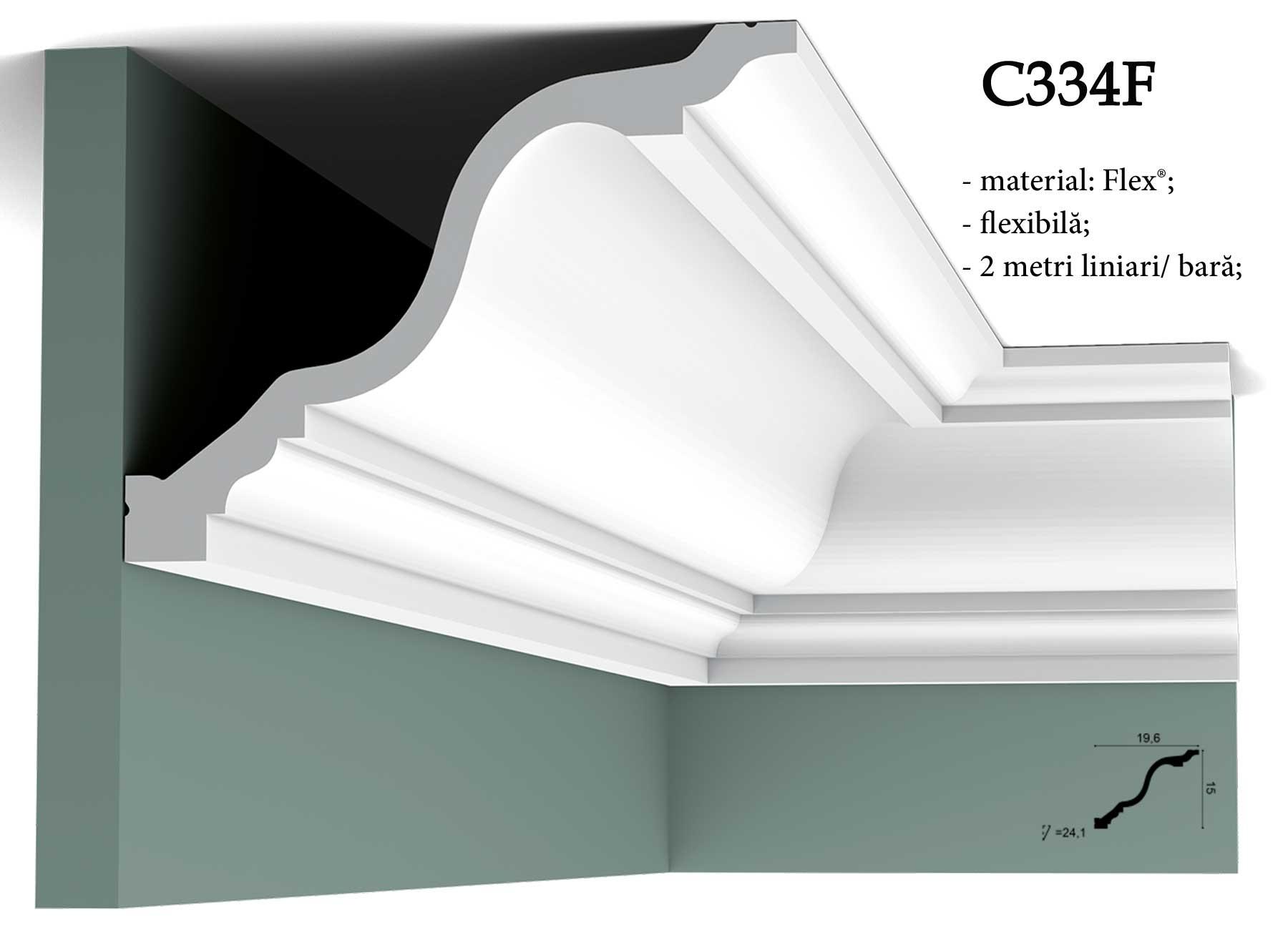 Bliss Art - Cornisa alba flexibila pentru tavan Orac Decor C334F