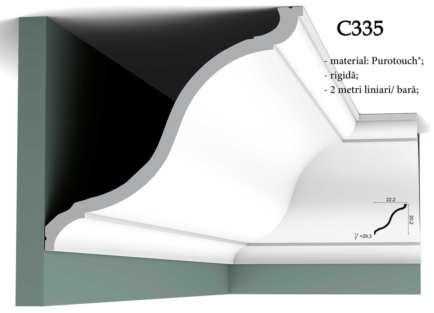 Bagheta decor tavan Orac Decor C335