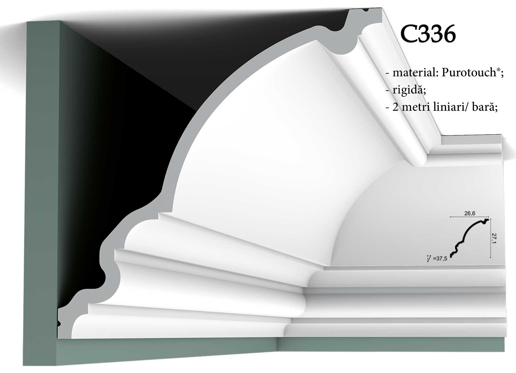 Bliss Art - Cornisa C336 pentru tavan Orac Decor.