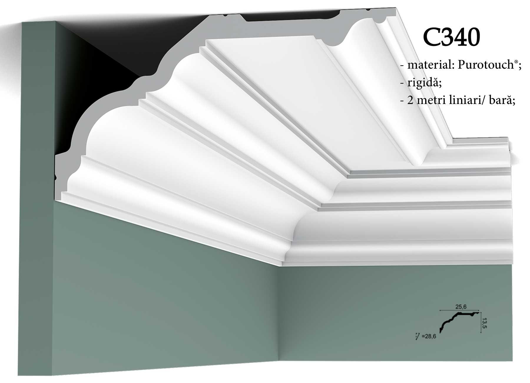 Cornisa maxi pentru tavan Orac Decor C340