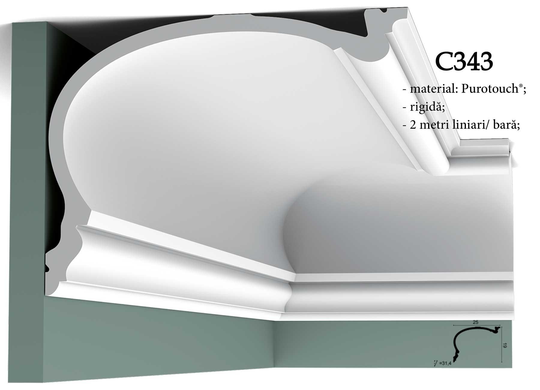 Cornisa decorativa pentru tavan Orac Decor C343