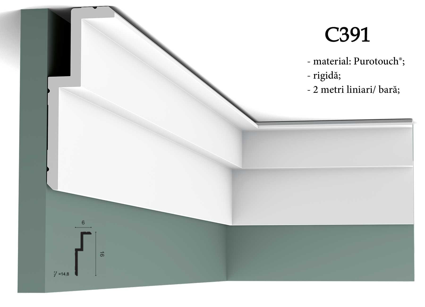 Cornisa moderna pentru tavan Orac Decor C391