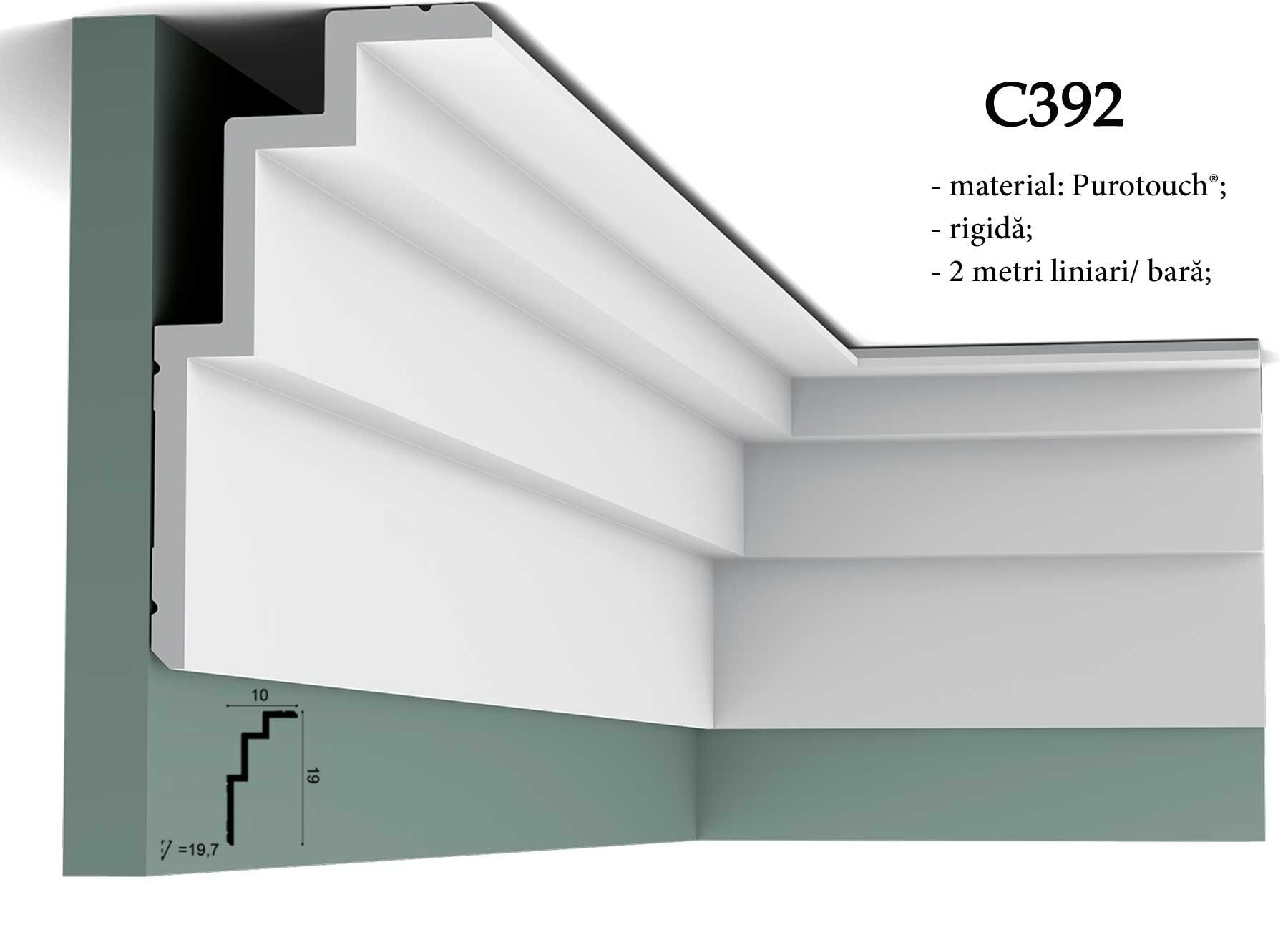 Cornisa decorativa inalta pentru tavan Orac Decor C392