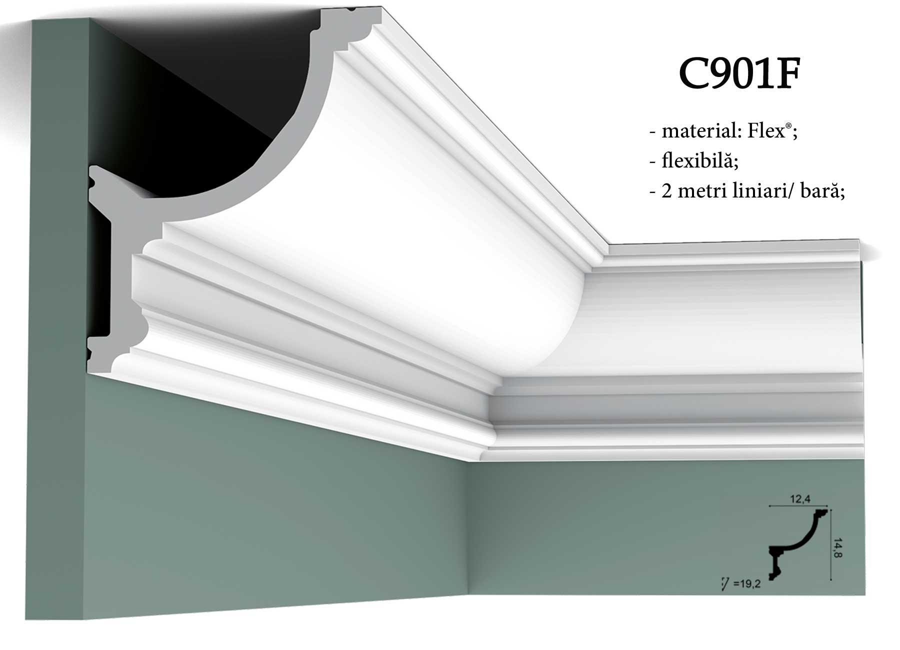 C901F Cornisa decorativa pentru tavan Orac Decor.