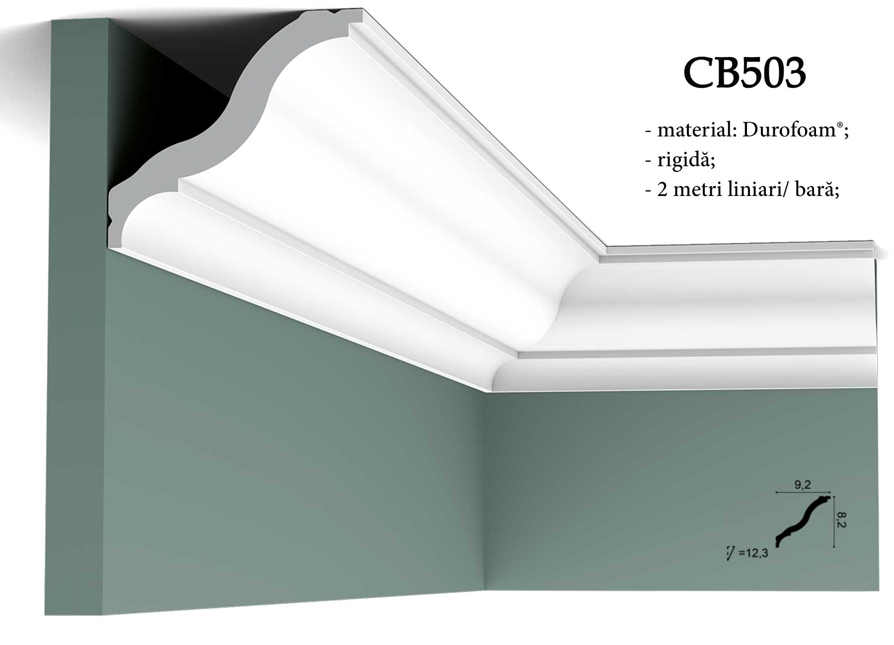 CB503 - cornisa decorativa pentru tavan Orac Decor.