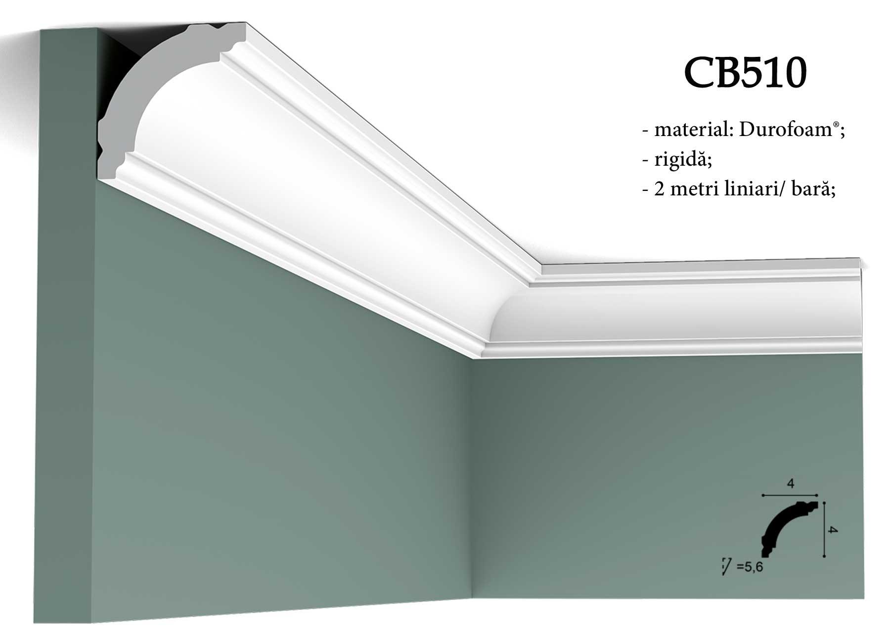 Cornisa CB510 decorativa pentru tavan Orac Decor.