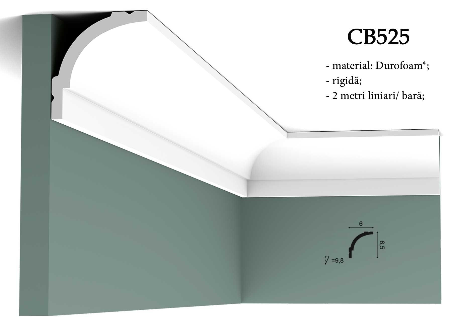 Cornisa CB525 decorativa pentru tavan Orac Decor.