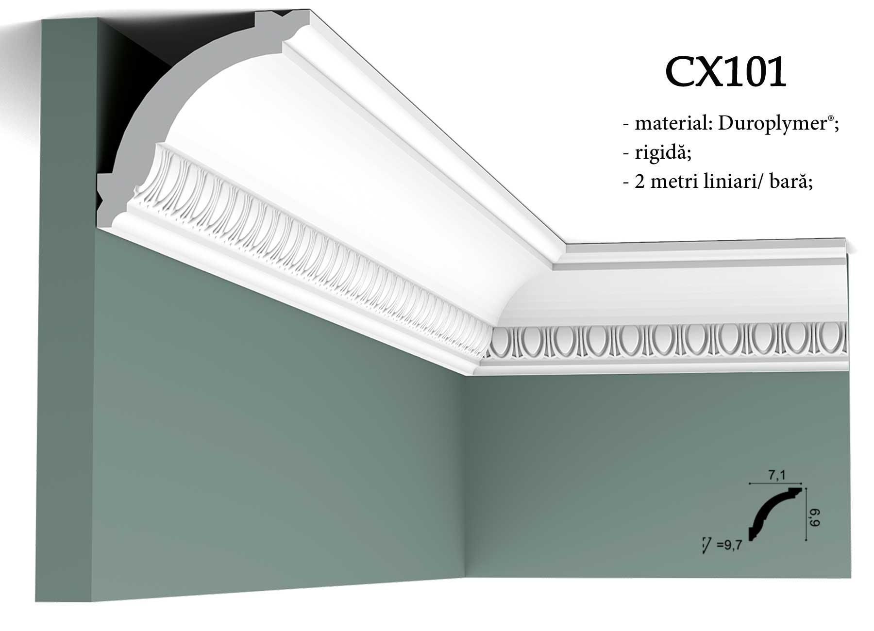 CX101 Cornisa decorativa pentru tavan Orac Decor. erminatie tapet.