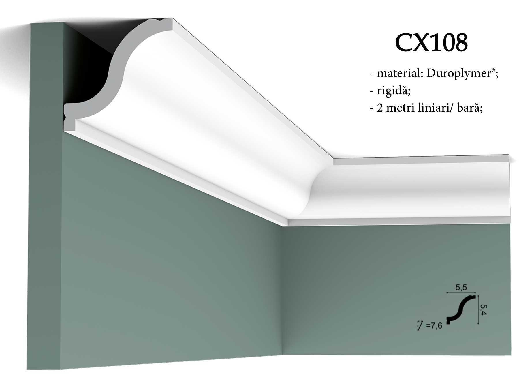 CX108 cornisa decorativa pentru tavan Orac Decor.