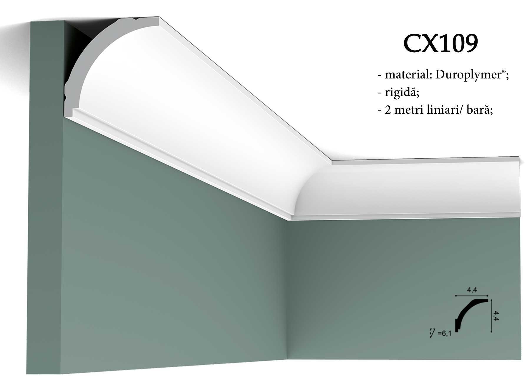 Cornisa CX109 decorativa pentru tavan Orac Decor.