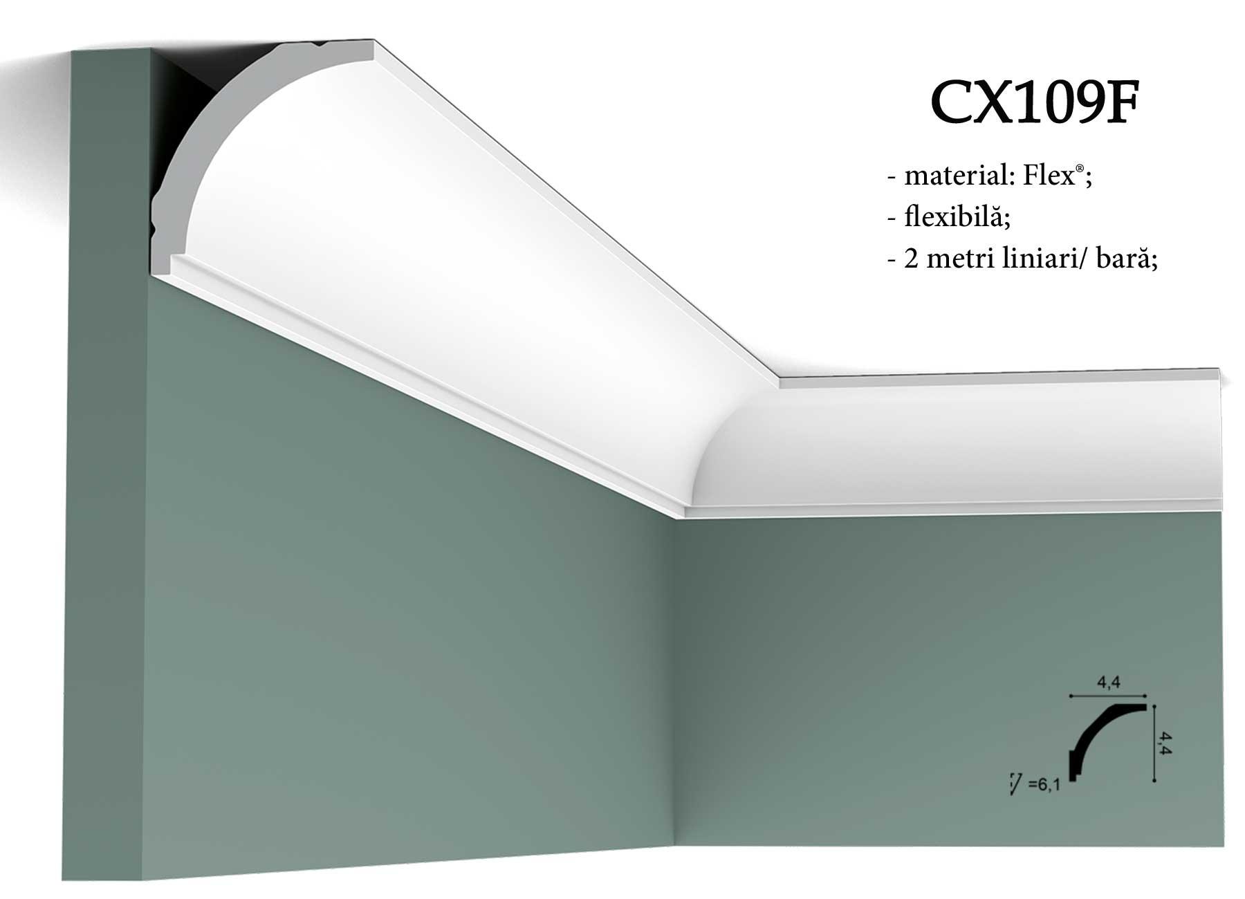 Cornisa CX109F decorativa pentru tavan Orac Decor.