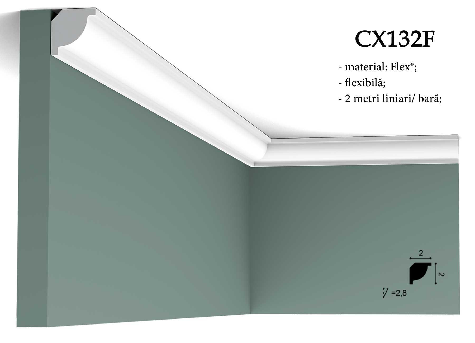 Coltar flexibil pentru tavan Orac CX132F