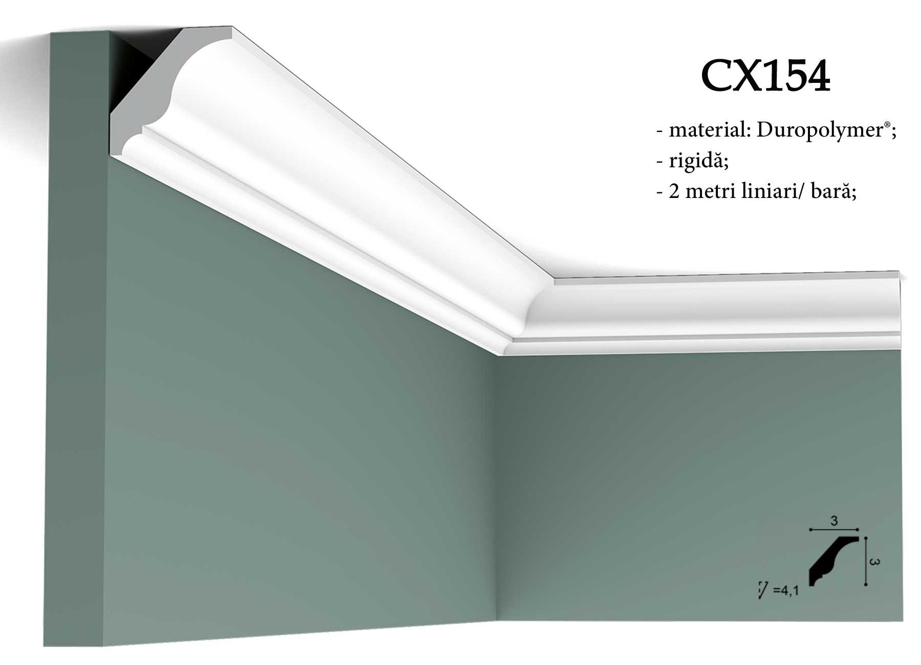 CX154 Cornisa decorativa pentru tavan Orac Decor.