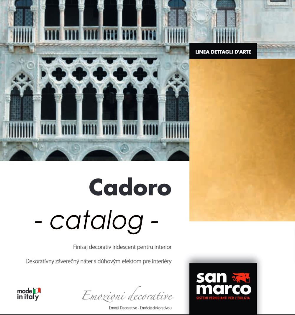 Vopsea decorativa cu aspect de catifea San Marco Cadoro
