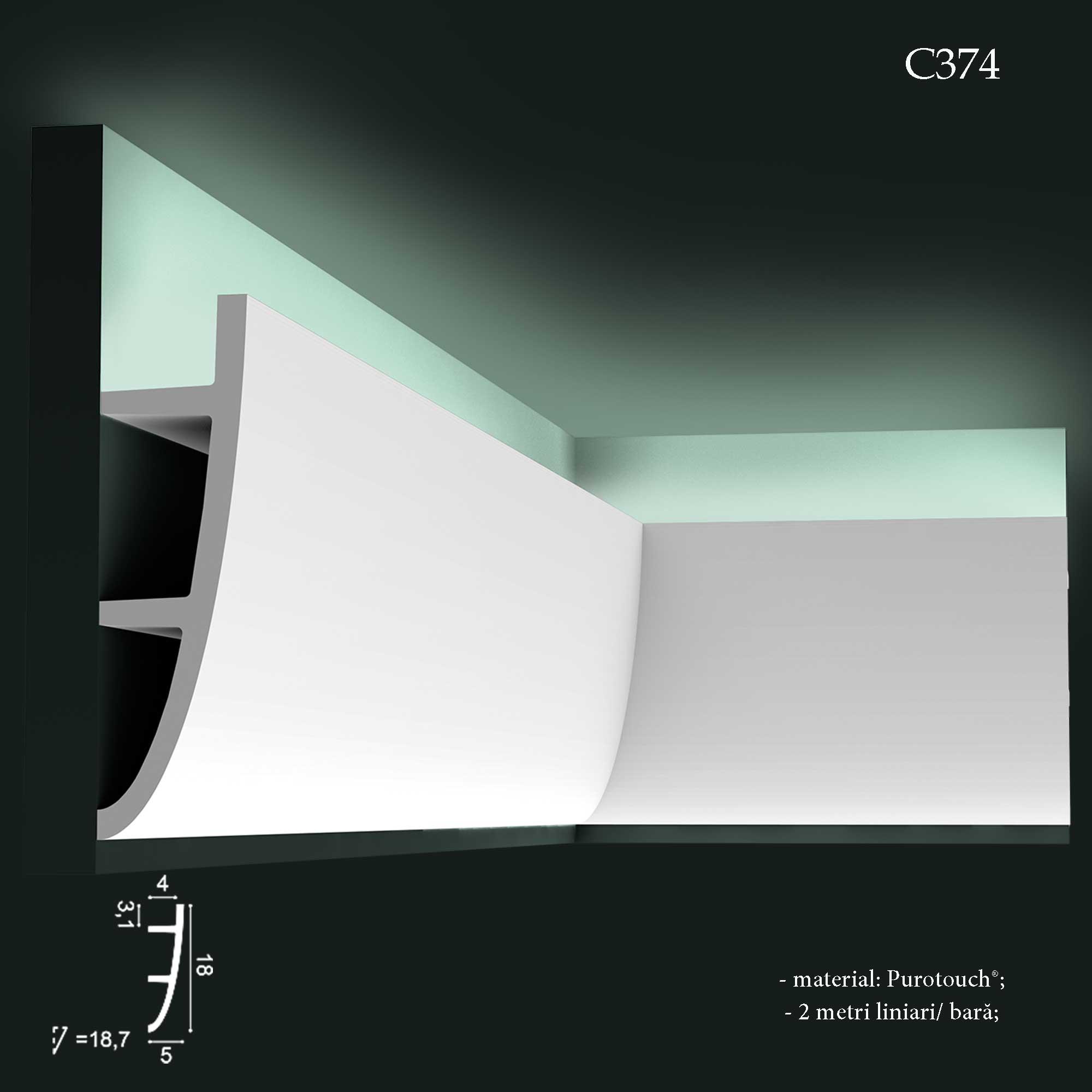 Scafa decorativa cu lumina indirecta Orac Decor