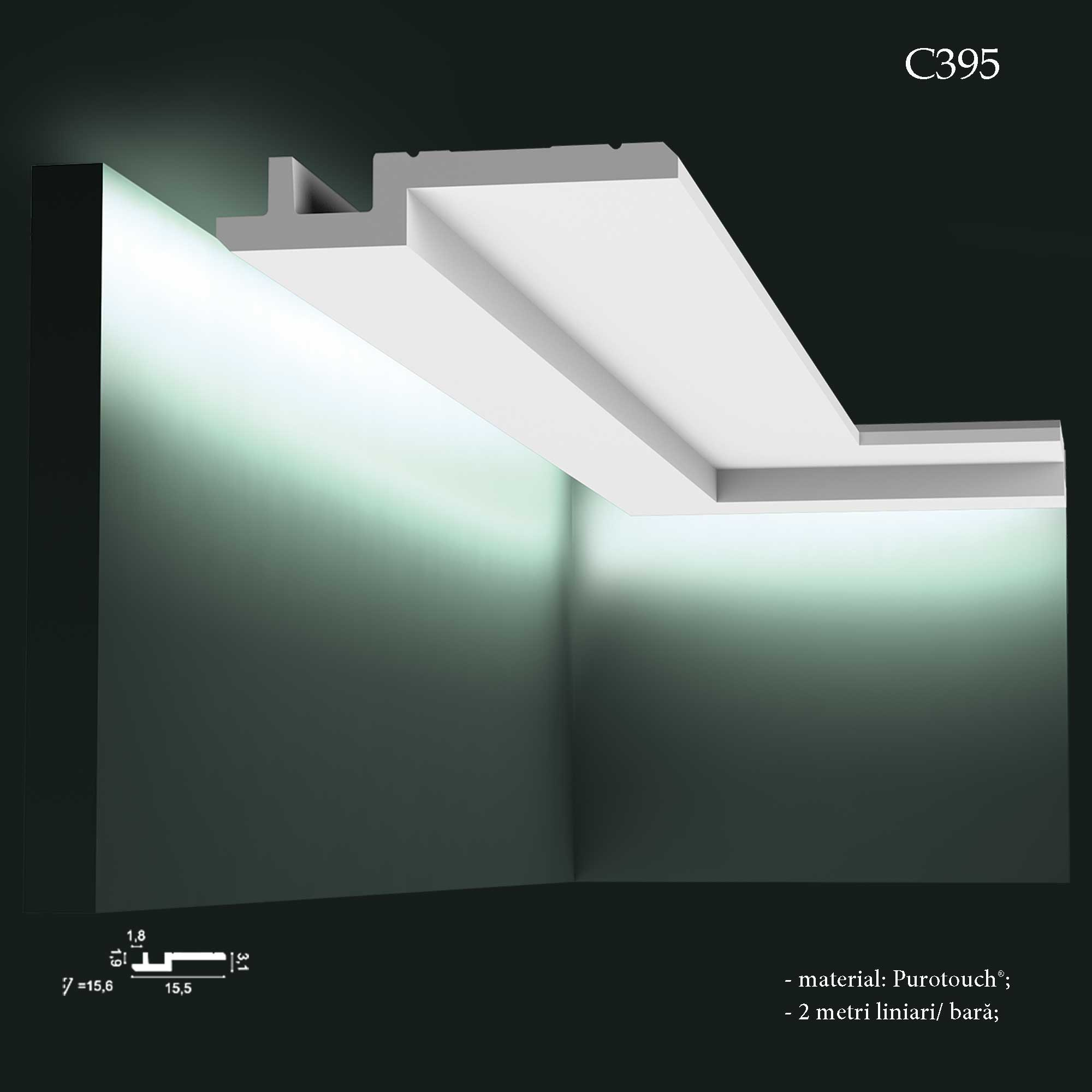 Profil decorativ cu banda LED Orac