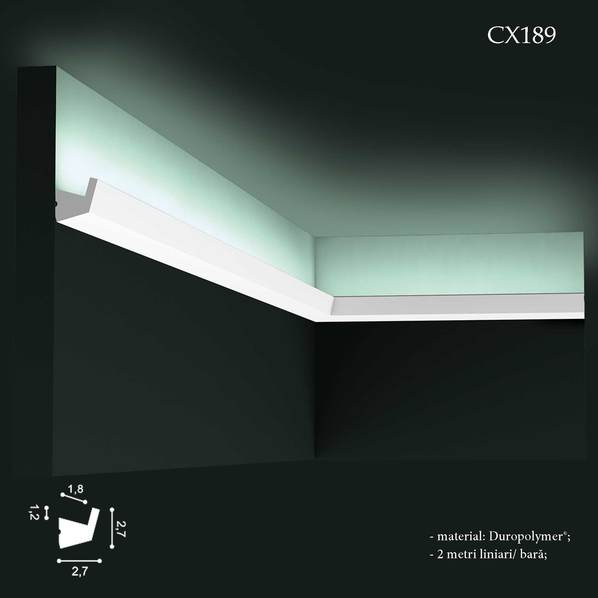 Scafa lumina LED tavan