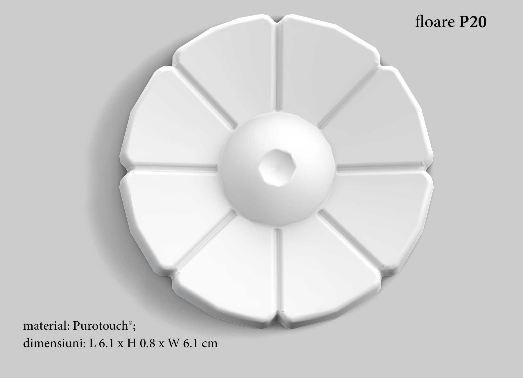 Floare decor pentru chenar perete Orac P20
