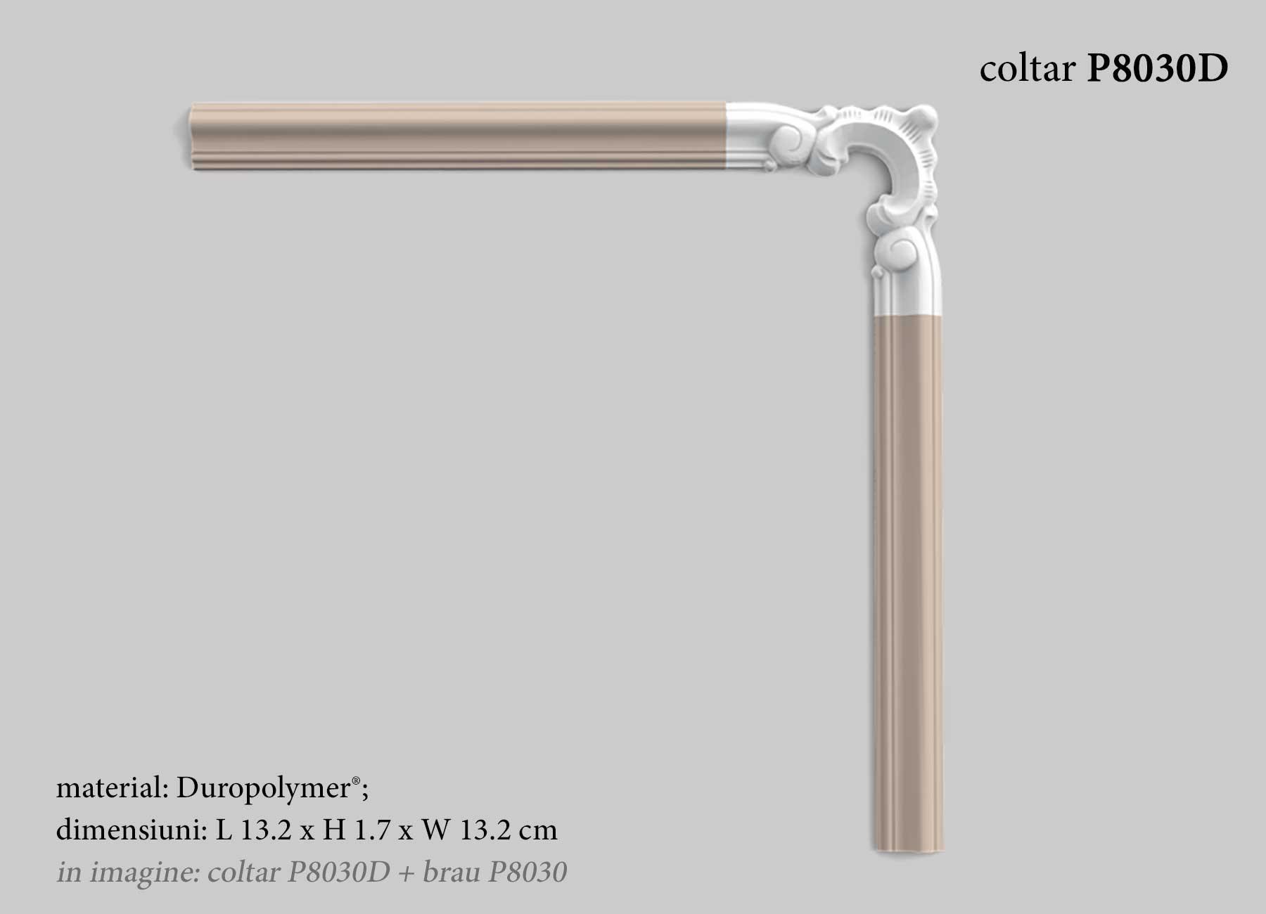 Colt decorativ pentru chenar perete Orac Decor P8030D