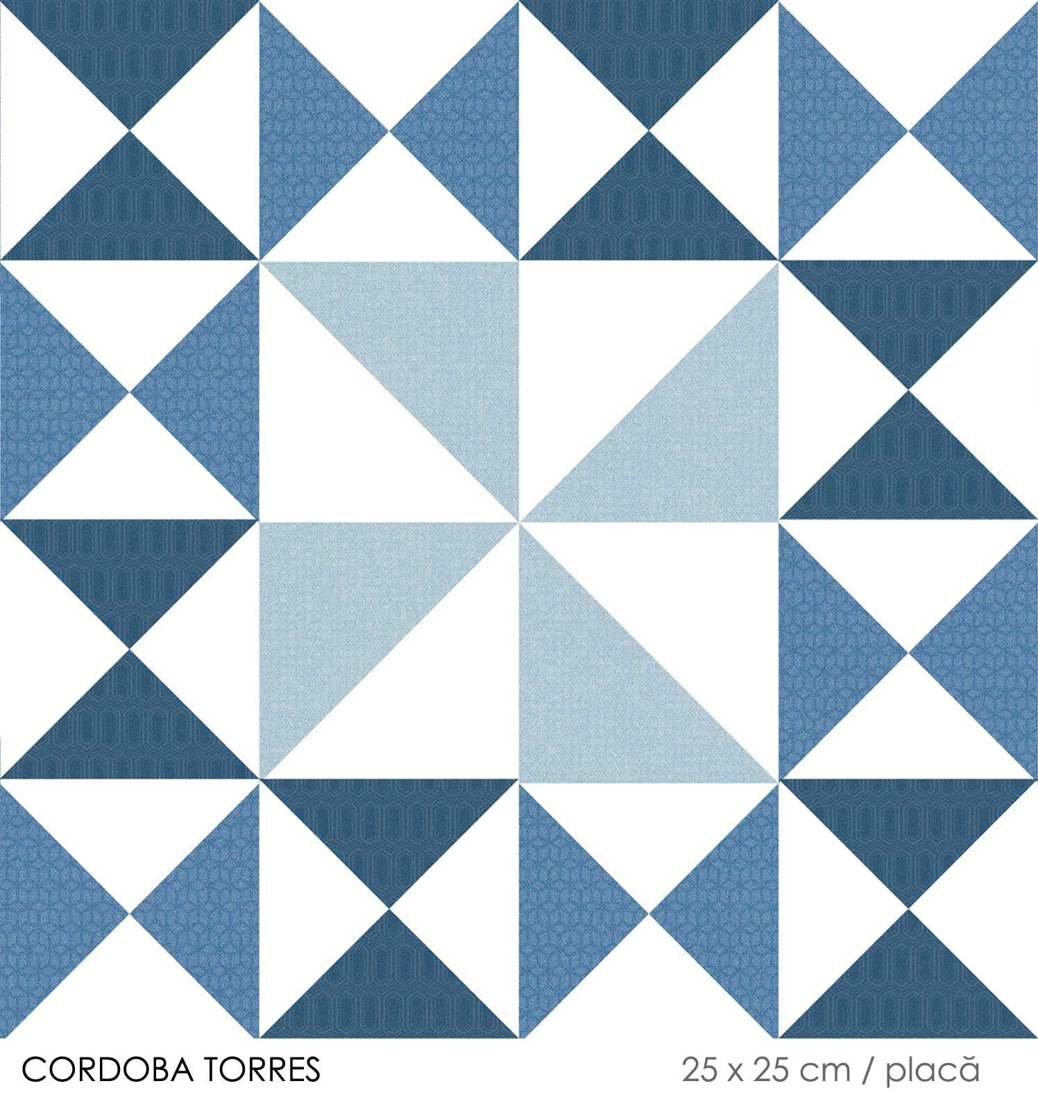 Gresie albastra 25 x 25 cm Keros