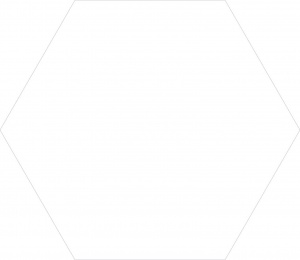gresie, hexagonala, alba,