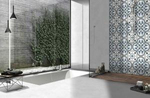 faianta albastra patchwork 25x25 cm keros