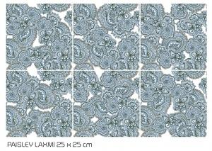 faianta decorativa cu flori albastre
